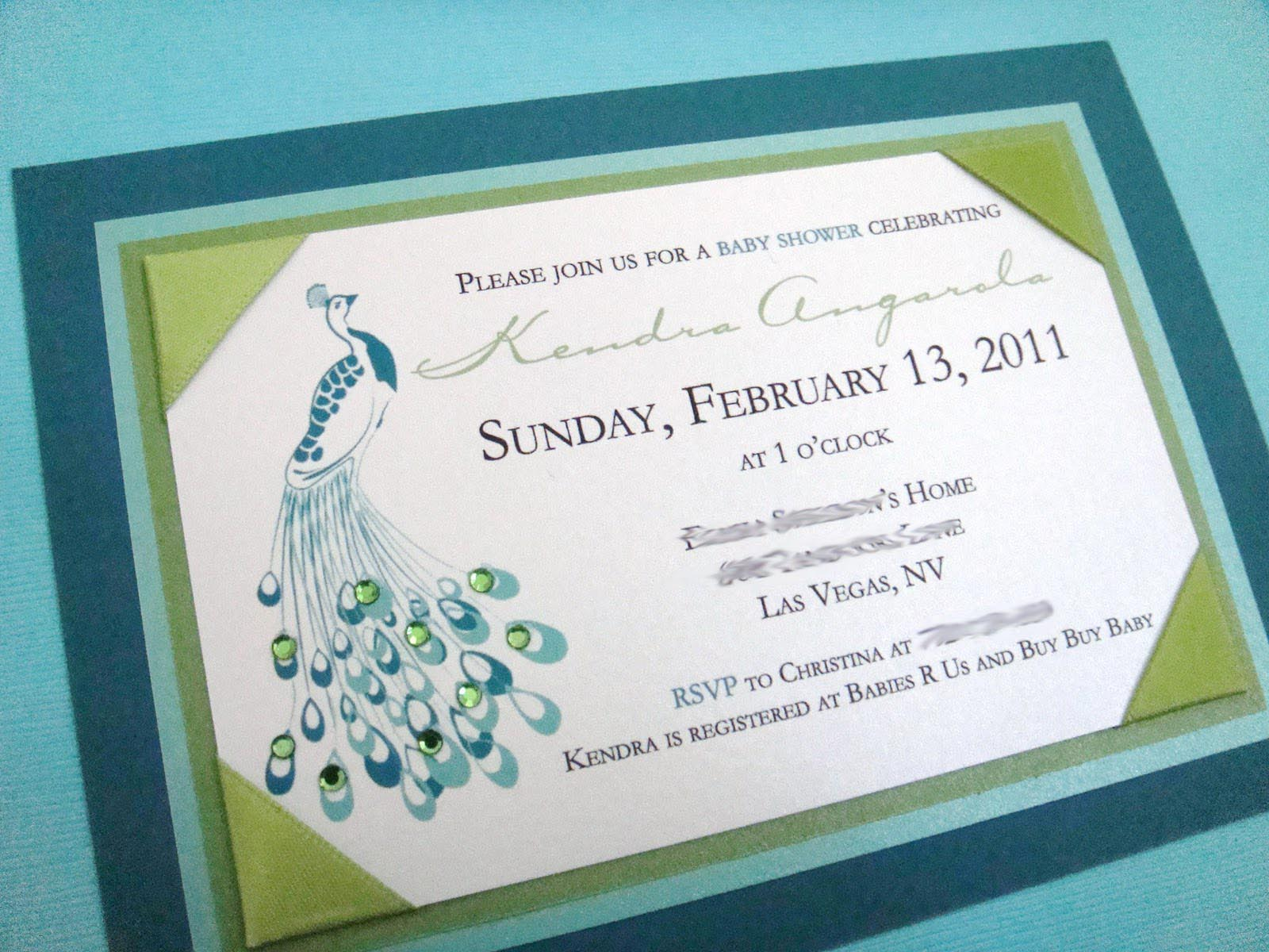 Peacock Inspired Wedding Invitation Template Idea