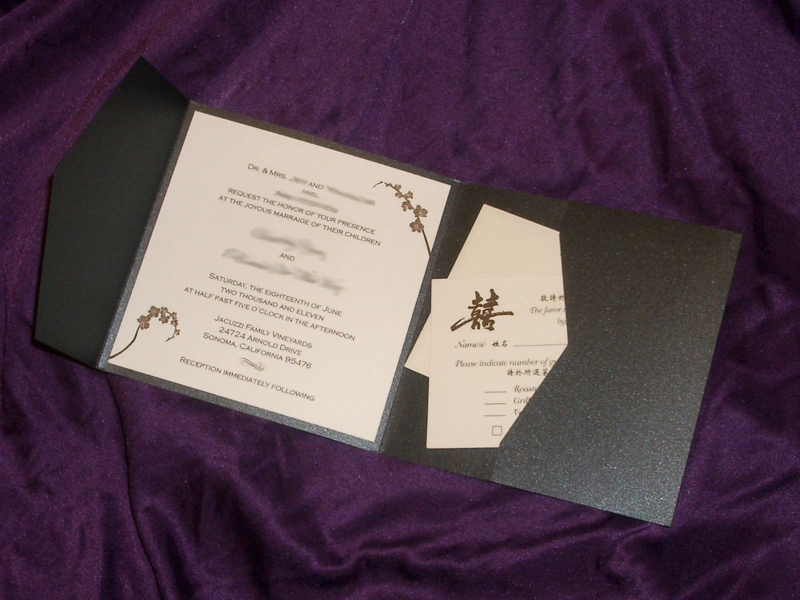 Pocket Wedding Invitation Wording