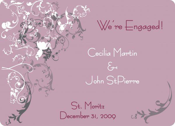 Printable Wedding Invitation Sample