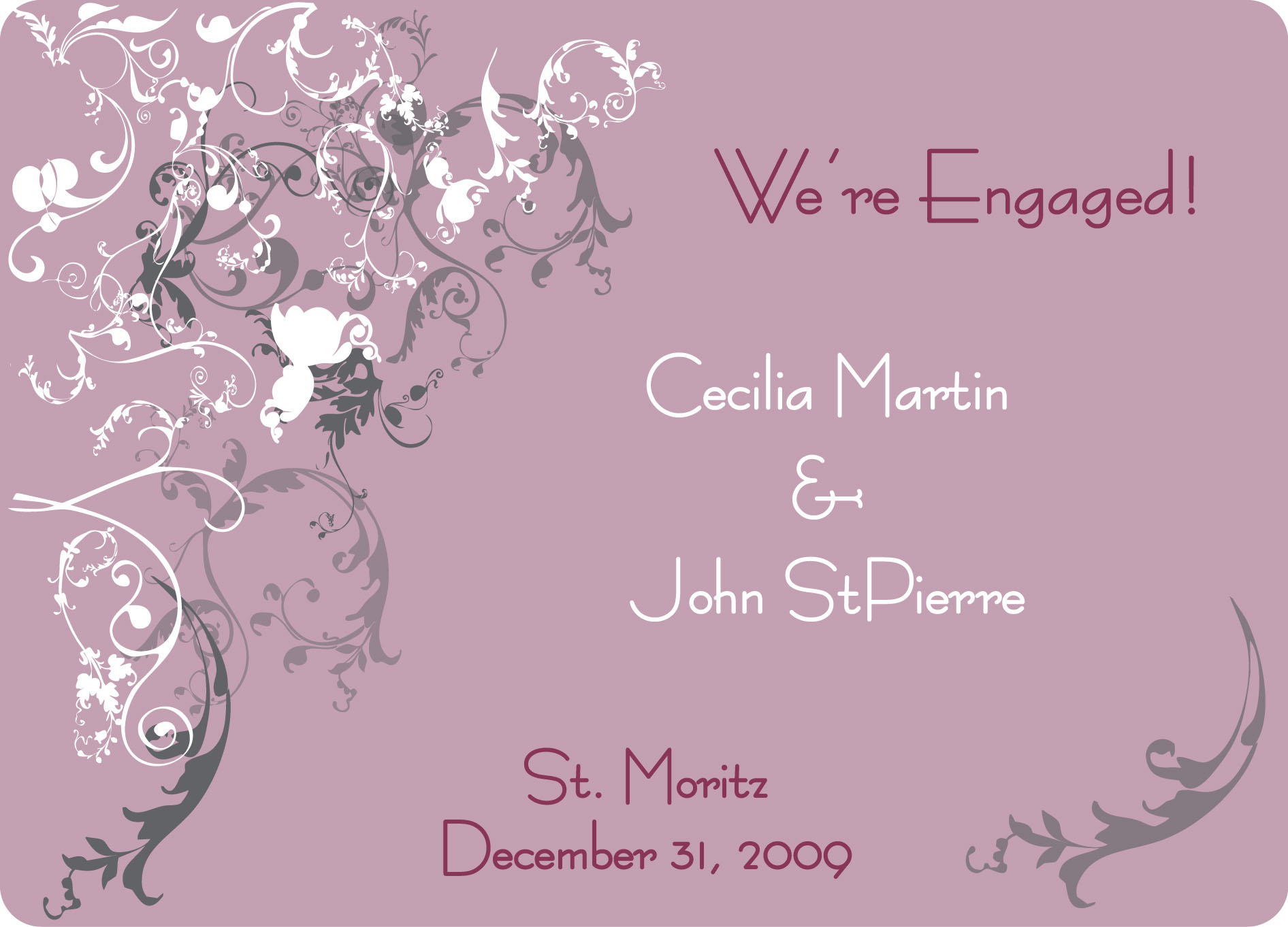 Printable Wedding Invitation Sample