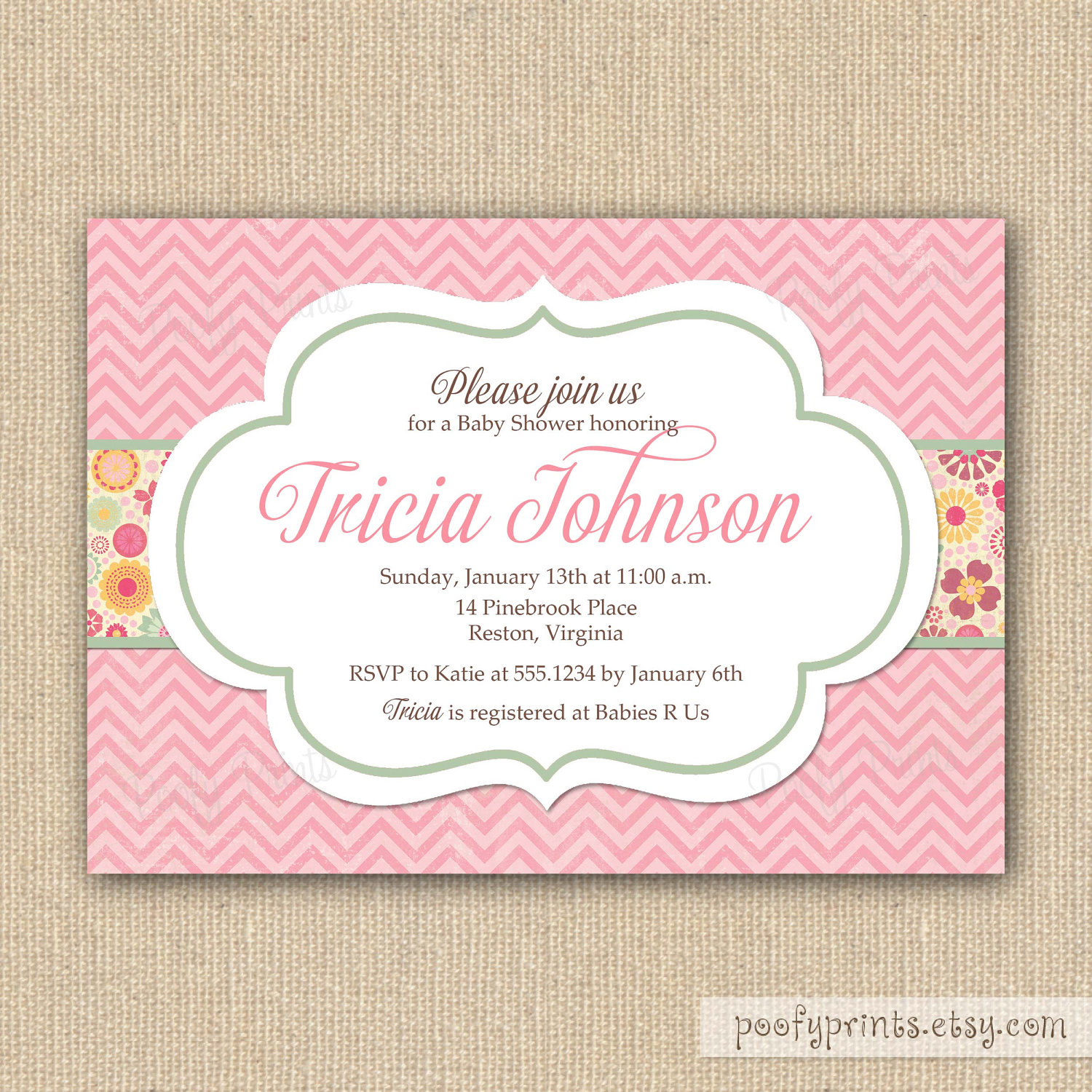 Printed Invitation Template