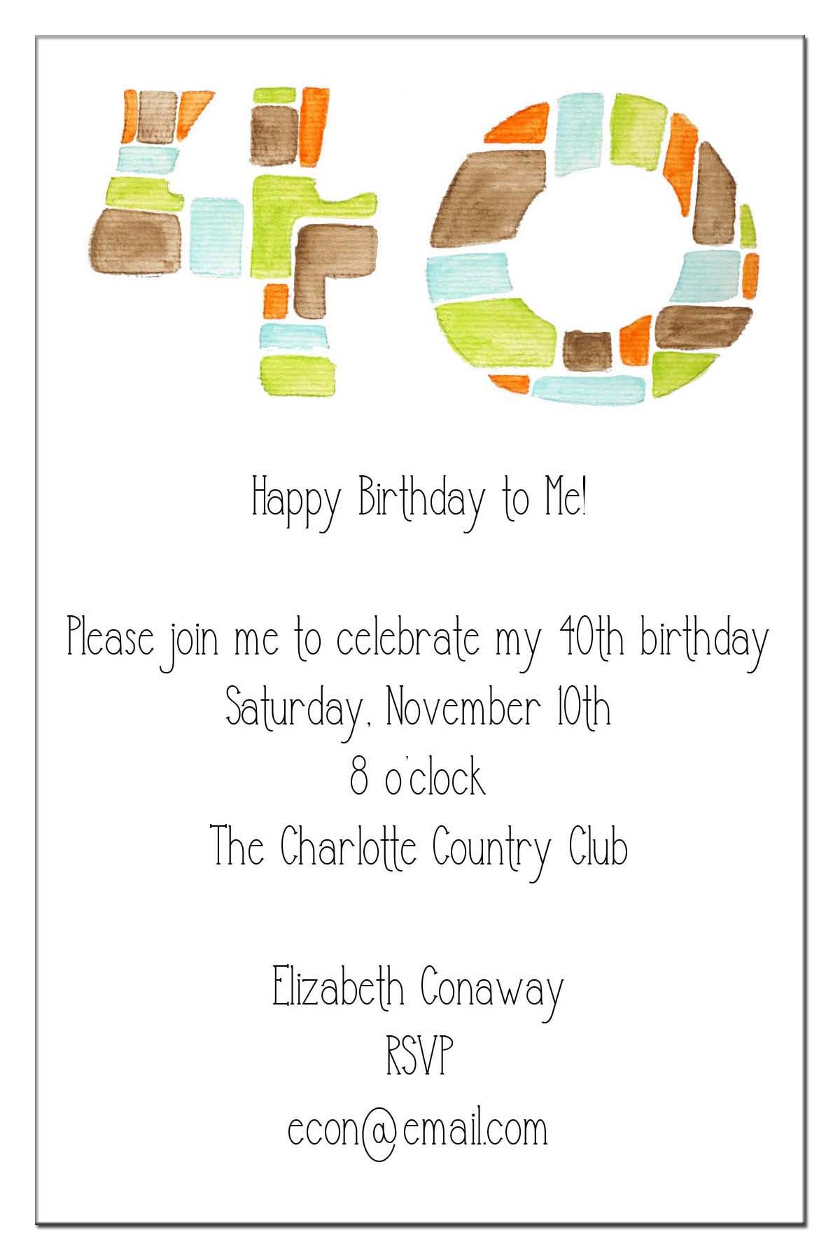 Quotes Card Birthday Invitation Etiquette