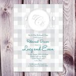 Rehearsal Dinner Invitation Template Card