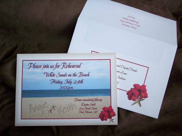 Rehearsal Dinner Invitation Template Idea
