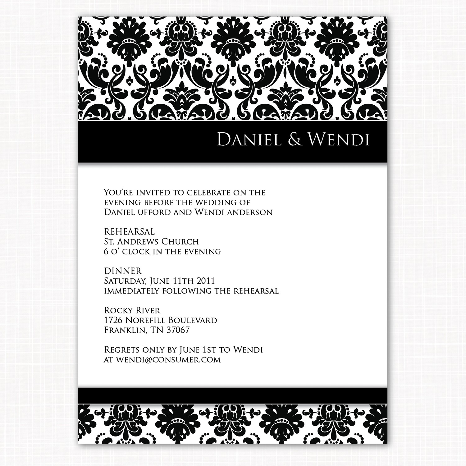 Rehearsal Dinner Invitation Template Quotes