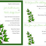 Sample Wedding Invitation Template Example