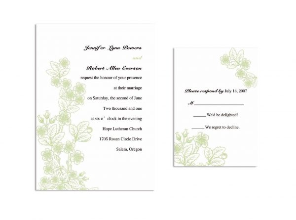 Sample Wedding Invitation Template Online