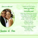 Sample Wedding Invitation Template Wording