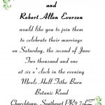 Simple Wedding Invitation Sample