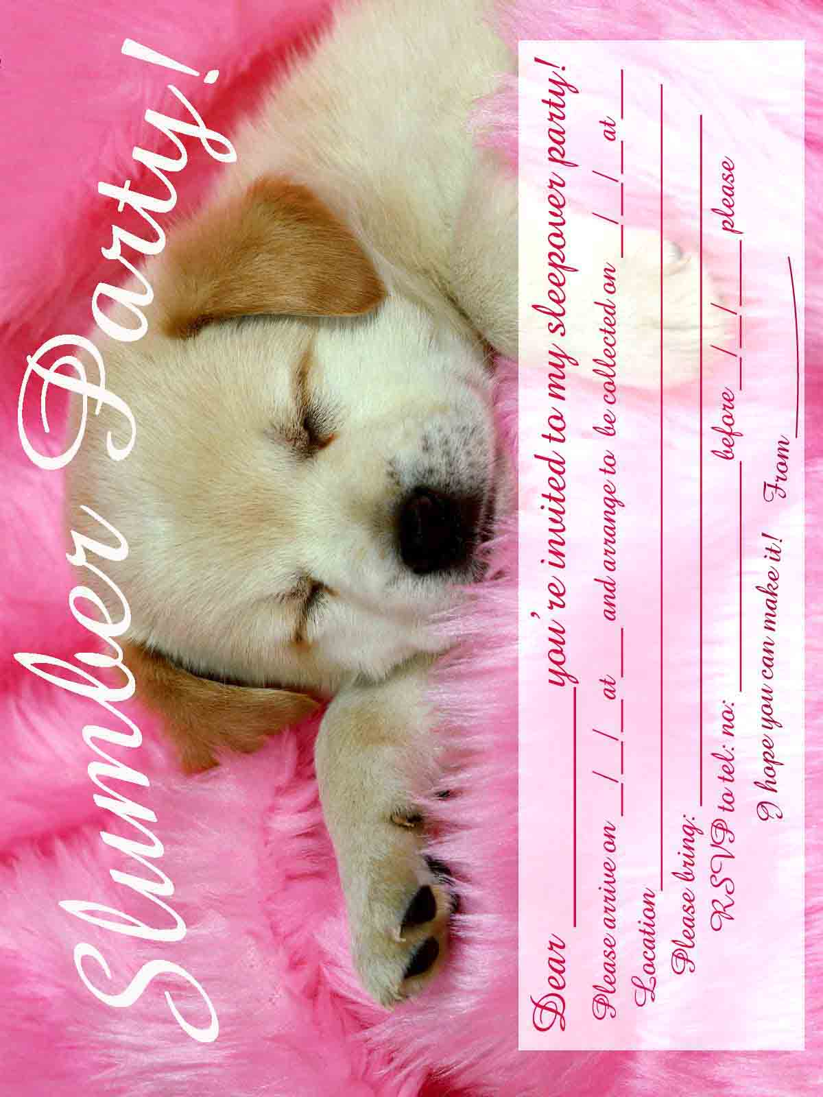 Sleepover Invitation Card