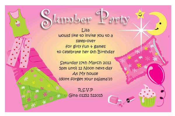 Sleepover Invitation Template