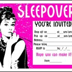 Sleepover Invitation Wording