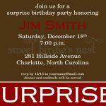 Surprise Party Invitation Sample