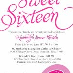 Sweet Sixteen Invitation Card