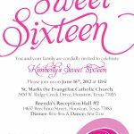 Sweet Sixteen Invitation Card