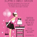 Sweet Sixteen Invitation Sample