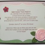 Tea Party Invitation Idea