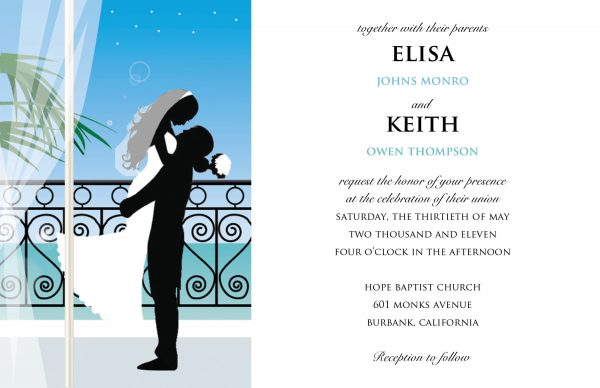 Template Card Sample Design Wedding Invitation