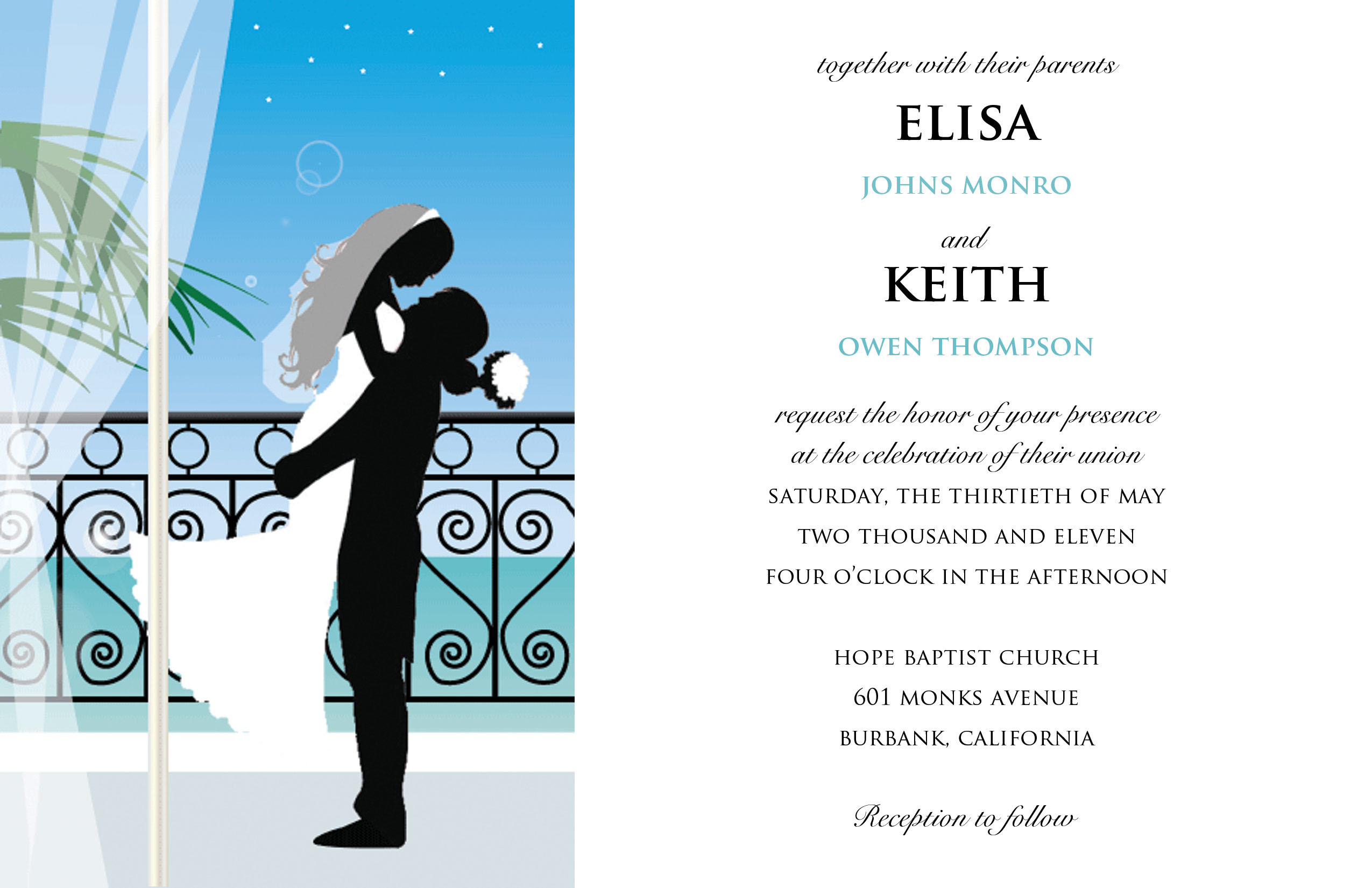 Template Card Sample Design Wedding Invitation