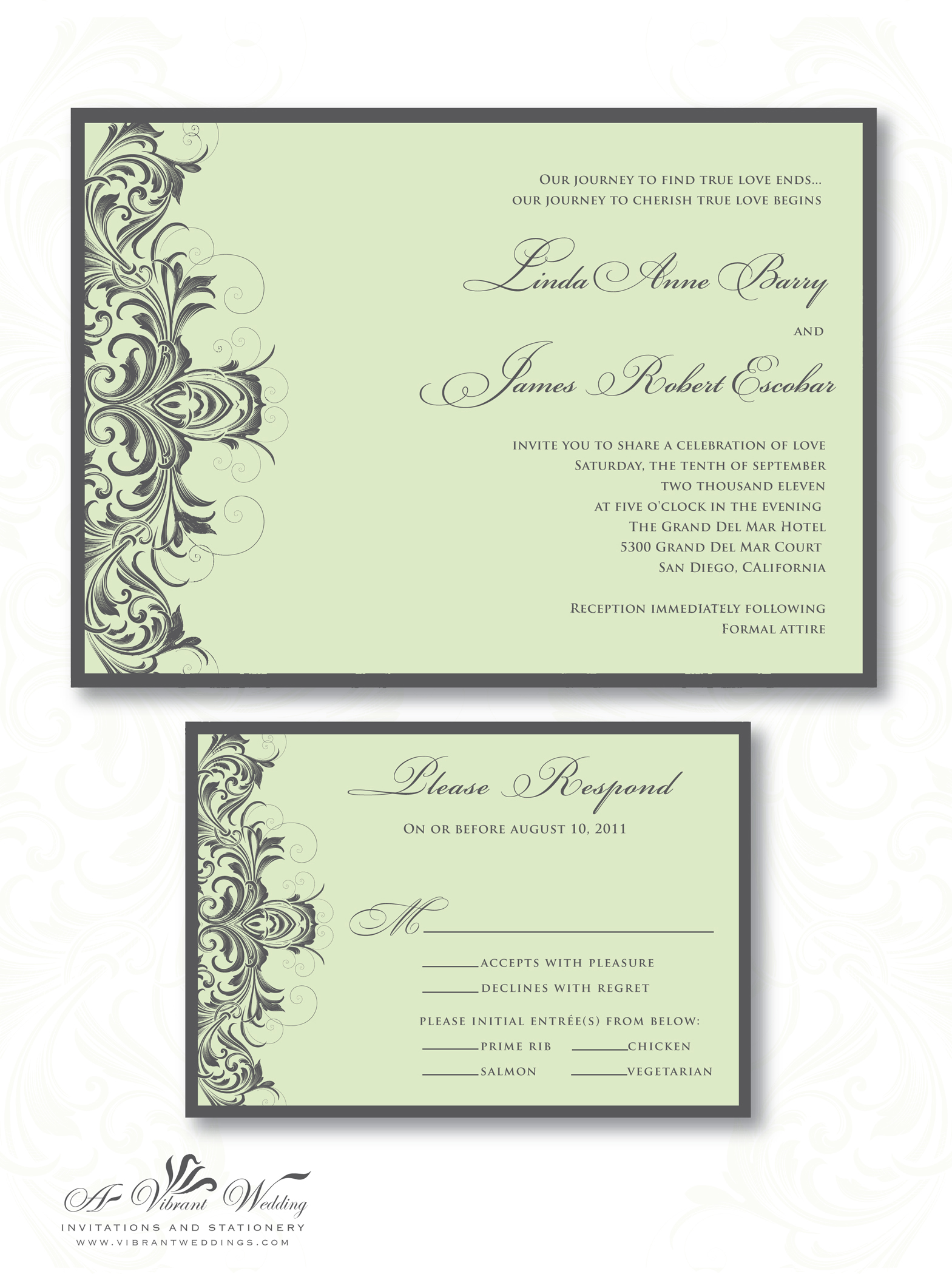 Vintage Wedding Invitation Idea