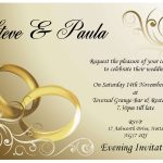 Wedding Invitation Day Or Evening