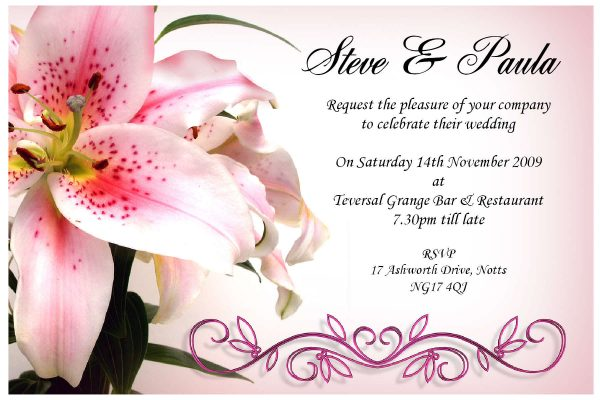 Wedding Invitation Design Card