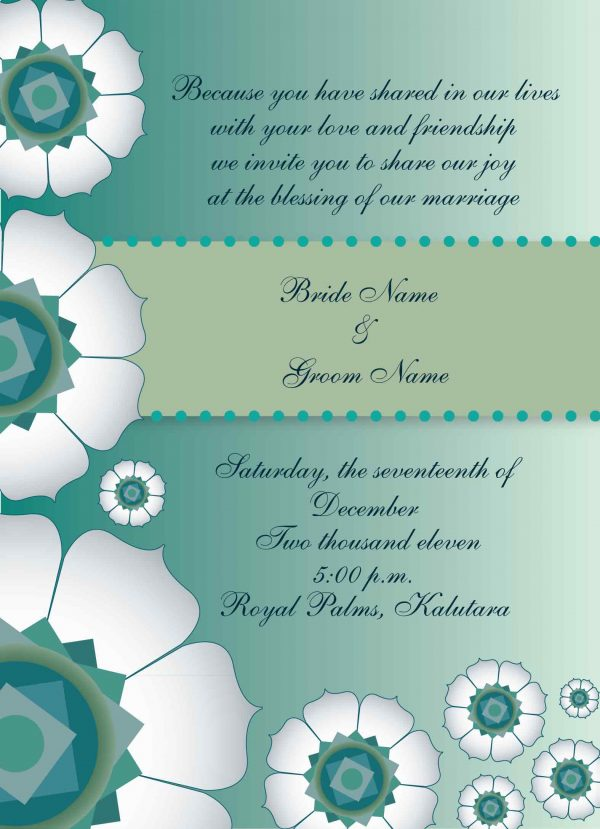 Wedding Invitation Designs Sample