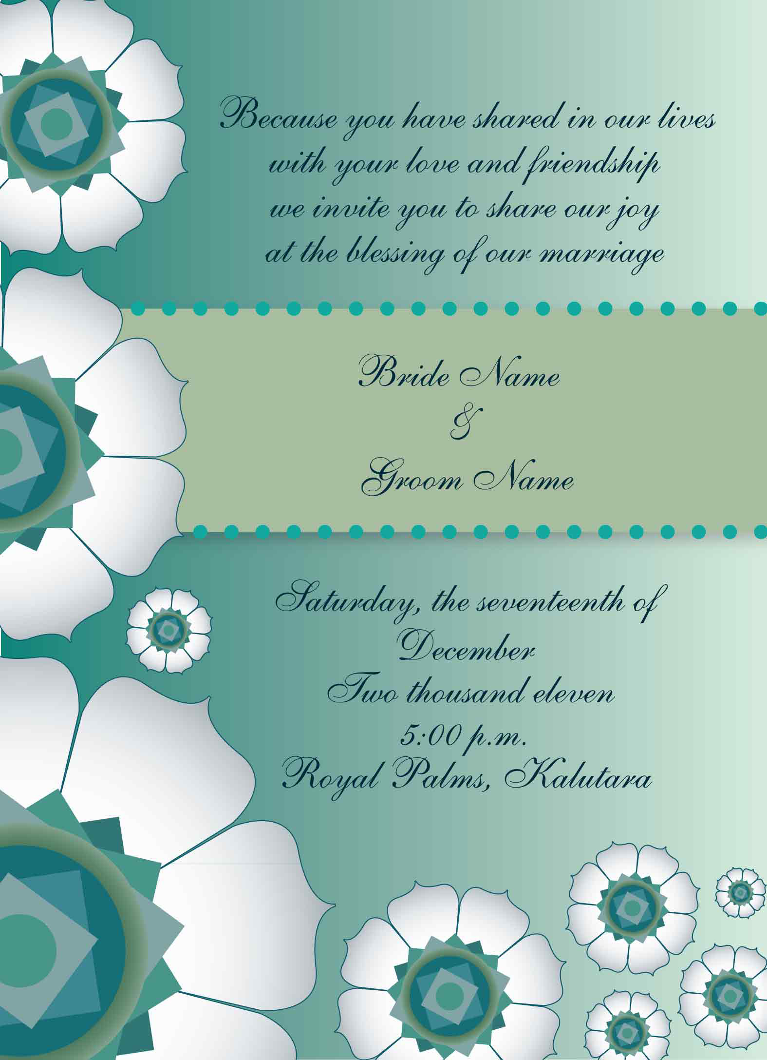 Wedding Invitation Designs Sample
