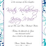 Wedding Invitation Examples Sample