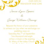Wedding Invitation Ideas Template Wording