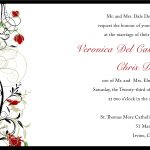 Wedding Invitation Samples Printable