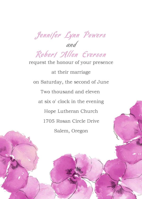 Wedding Invitation Samples Template Design