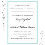 Wedding Invitation Wording Card