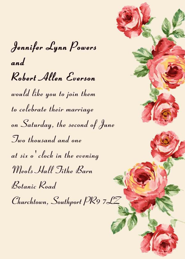 Wedding Invitation Wording Design