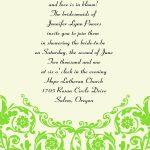 Wedding Invitation Wording Idea