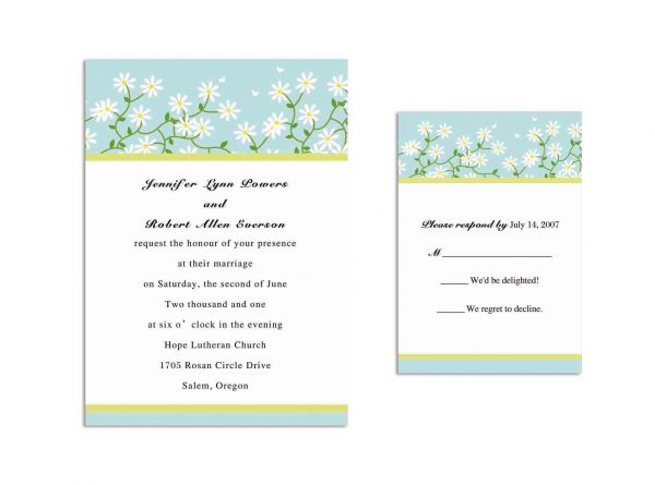Wedding Invitation Wording Sample