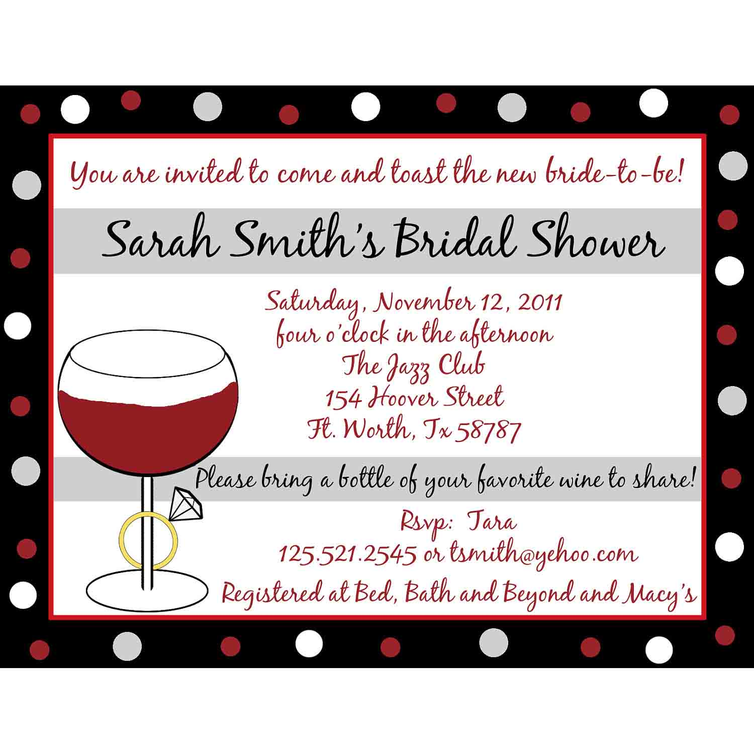 Wedding Shower Invitation Card