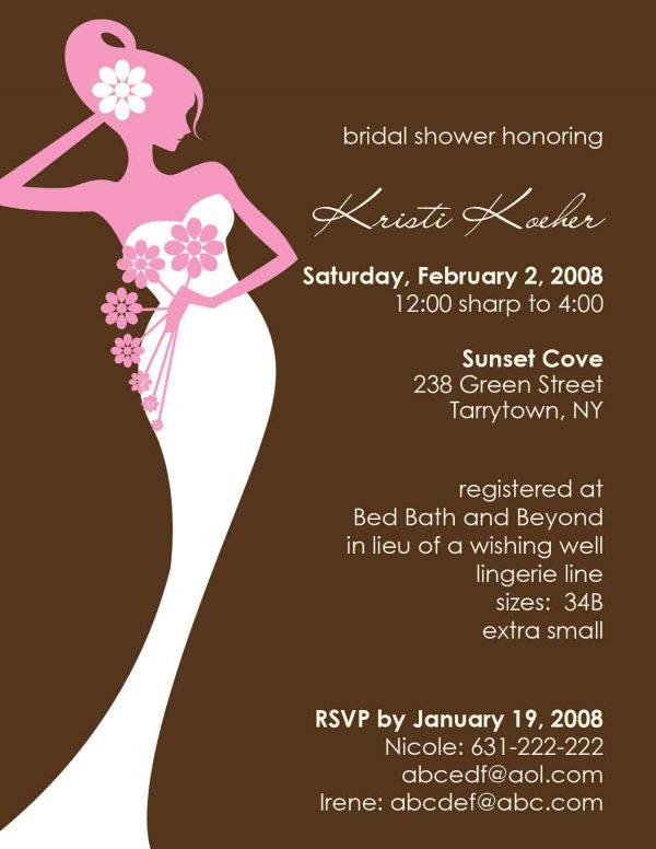 Wedding Shower Invitation Idea