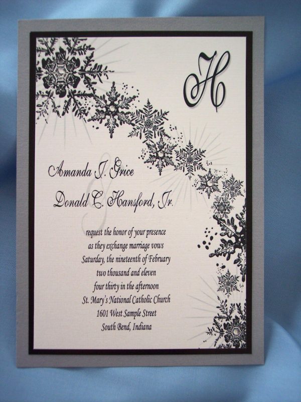 Winter Wedding Invitation Sample