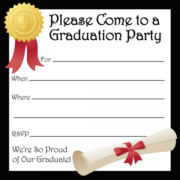 Graduation Invitations Template